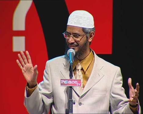 Dr. Zakir Naik addresses the gathering.